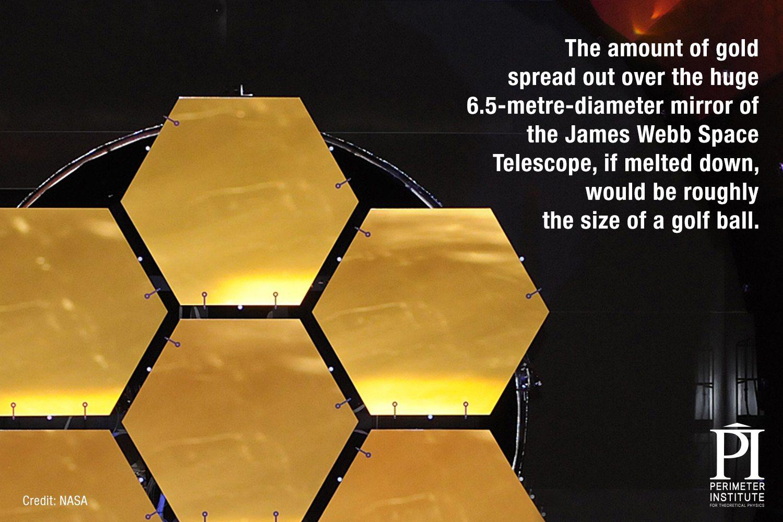 James Webb Telescope gold